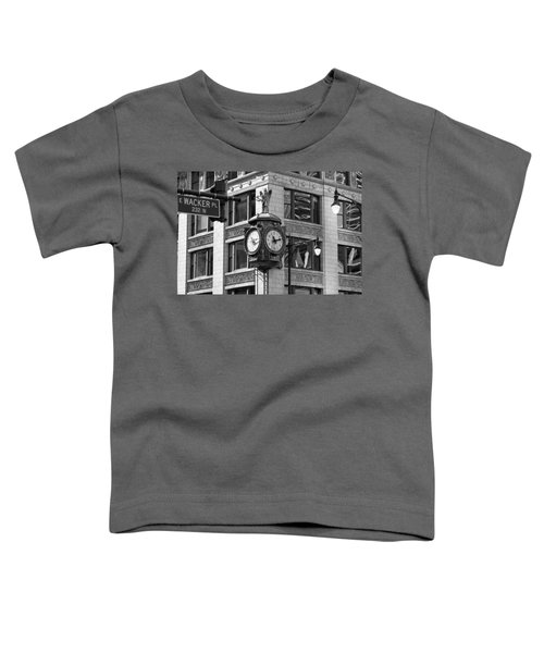Clock On Jewelers Building - Chicago Toddler T-Shirt