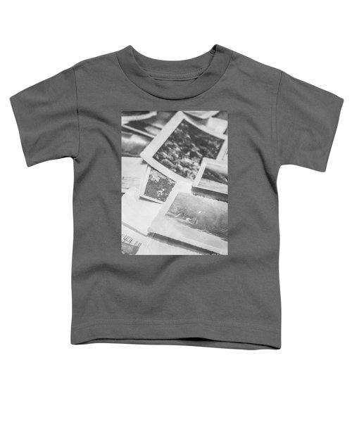 Close Up On Old Black And White Photographs Toddler T-Shirt
