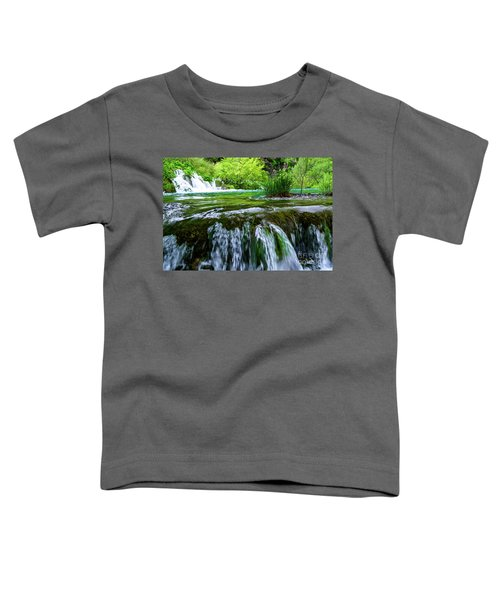 Close Up Waterfalls - Plitvice Lakes National Park, Croatia Toddler T-Shirt
