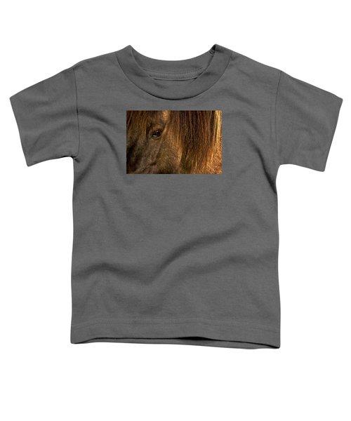 Closeup Of An Icelandic Horse #2 Toddler T-Shirt