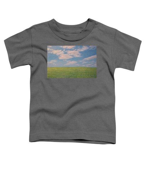 Clouds Over Green Field Toddler T-Shirt