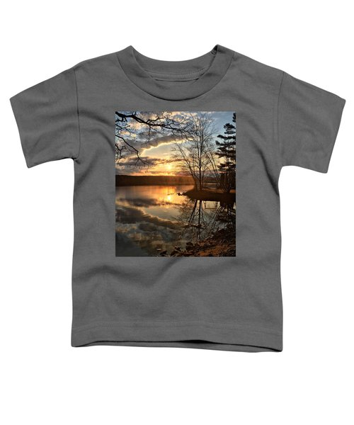 Clouds, Reflection And Sunset  Toddler T-Shirt