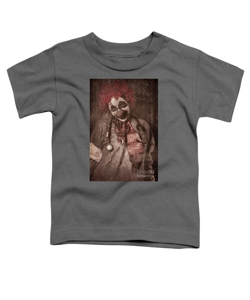 Clown Doctor Being Strangled By Autopsy Limb Toddler T-Shirt