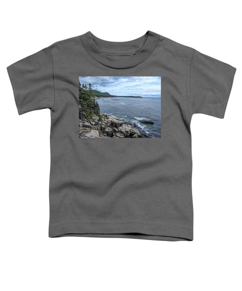 Coastal Landscape From Ocean Path Trail, Acadia National Park Toddler T-Shirt