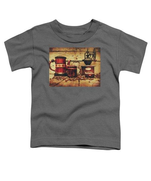 Coffee Bean Grinder Beside Old Pot Toddler T-Shirt