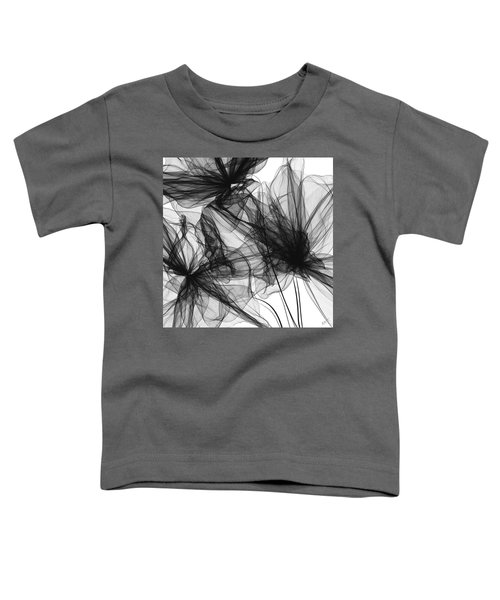 Coherence - Black And White Modern Art Toddler T-Shirt