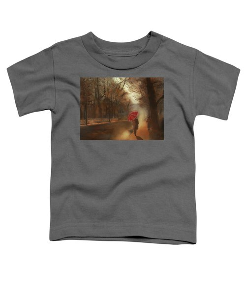 Cold Autumn Morning Painting Toddler T-Shirt