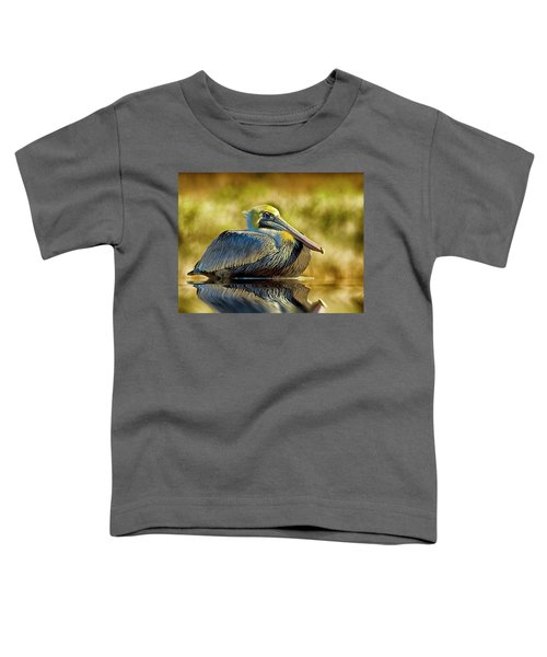 Cold Brown Pelican Toddler T-Shirt