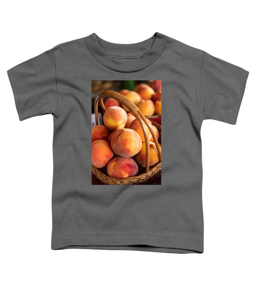 Colorado Peaches In Basket Toddler T-Shirt