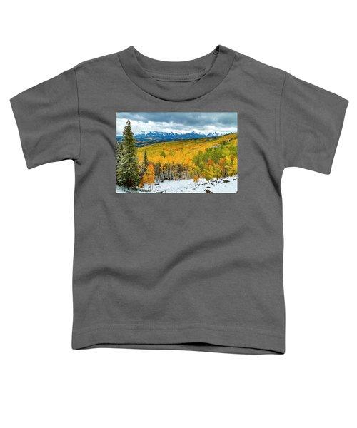 Colorado Valley Of Autumn Color Toddler T-Shirt