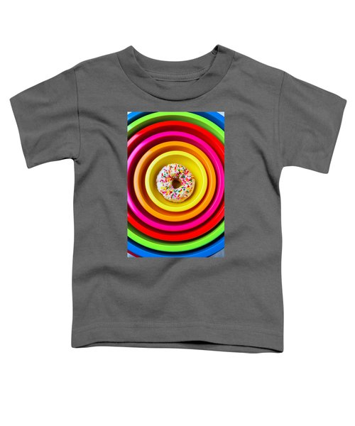 Colored Bowls And Donut Toddler T-Shirt