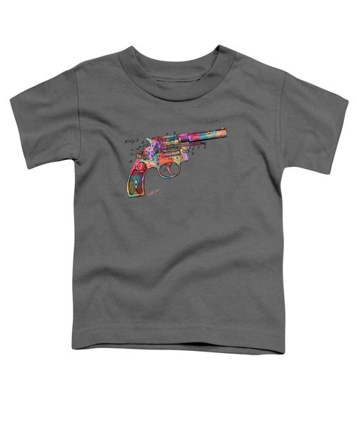 Colorful 1896 Wesson Revolver Patent Toddler T-Shirt