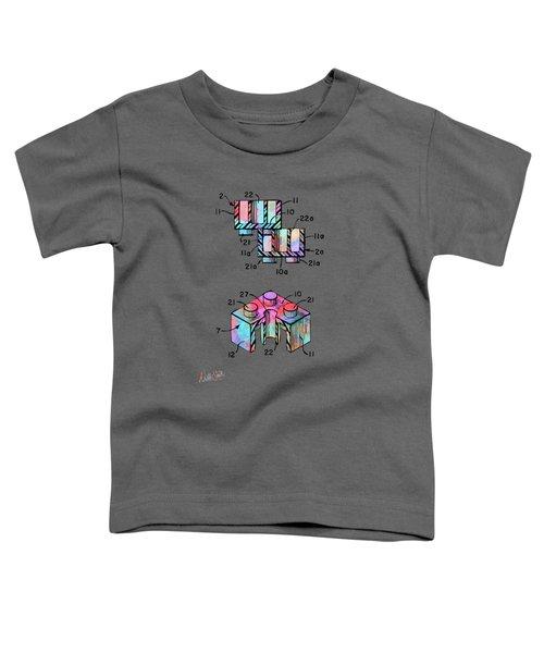 Colorful 1961 Lego Brick Patent Minimal Toddler T-Shirt