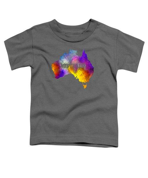 Colorful Australia Toddler T-Shirt by Kaye Menner