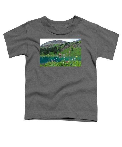 Colorful Blue Lakes Landscape Toddler T-Shirt