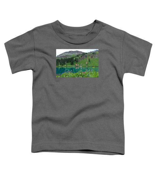 Colorful Blue Lakes Landscape Toddler T-Shirt