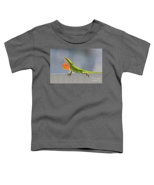 Colorful Carolina Anole Lizard Toddler T-Shirt