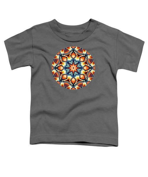 Colorful Concentric Motif Toddler T-Shirt