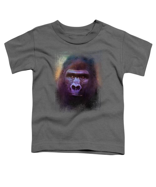 Colorful Expressions Gorilla Toddler T-Shirt by Jai Johnson