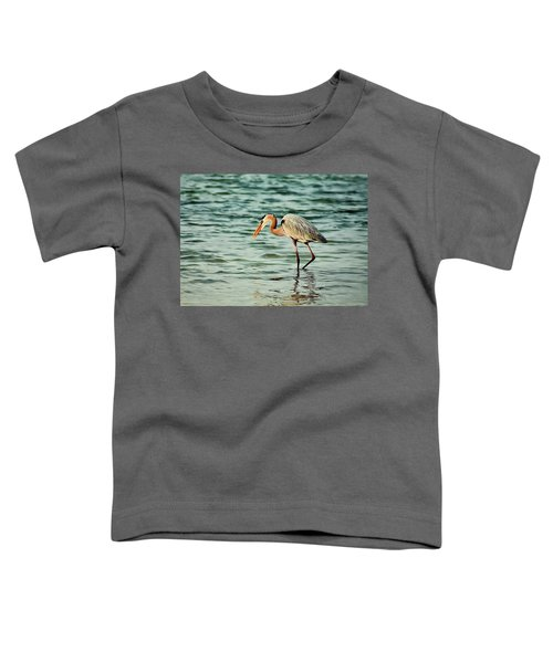 Colorful Heron Toddler T-Shirt