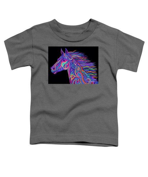 Colorful Rainbow Stallion  Toddler T-Shirt