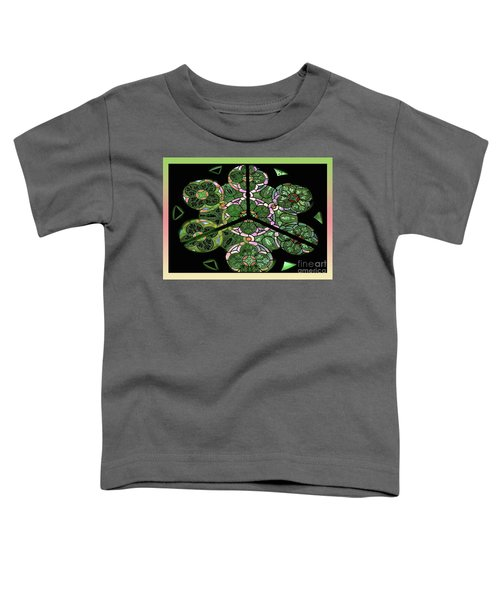Colorful Rosette In Pink-green Toddler T-Shirt