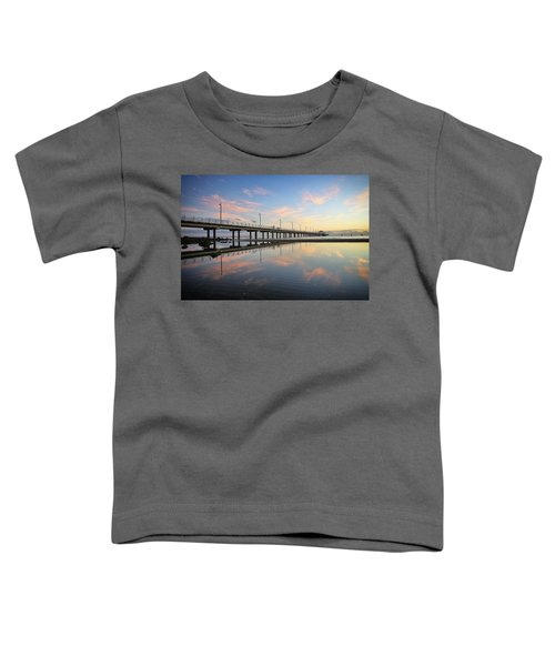 Colourful Cloud Reflections At The Pier Toddler T-Shirt