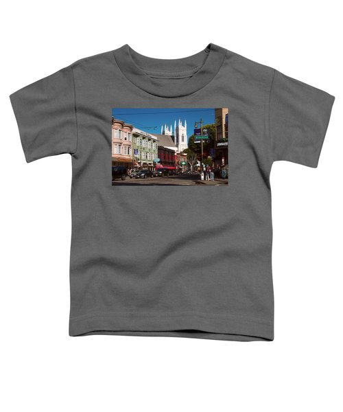 Columbus And Stockton In North Beach Toddler T-Shirt