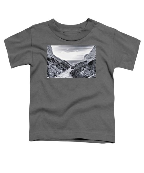 Toddler T-Shirt featuring the photograph Coming Through by Alison Frank
