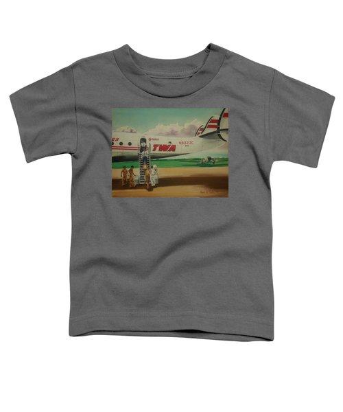 Connie Crew Deplaning At Columbus Toddler T-Shirt