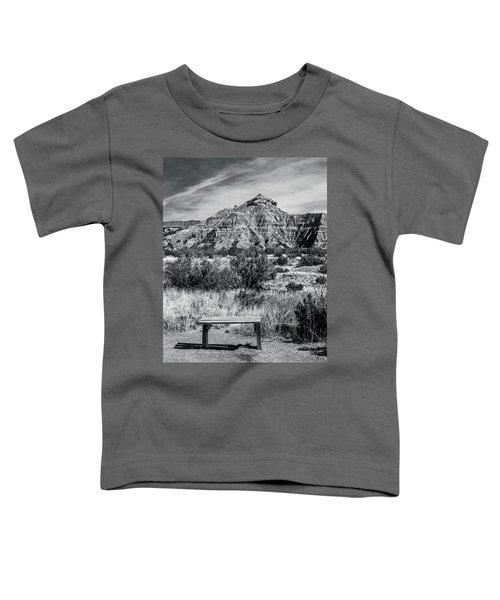 Contemplation Bench Bw Toddler T-Shirt
