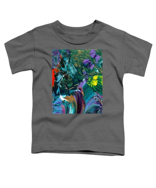 Cosmic Feathered Webbed Universe Toddler T-Shirt