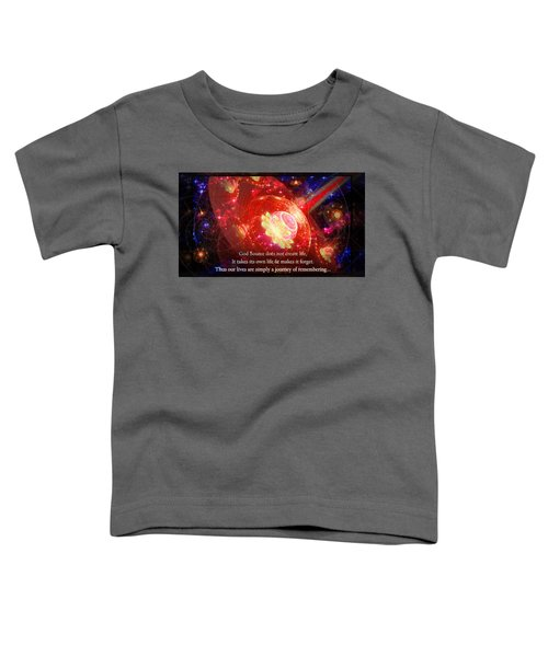 Toddler T-Shirt featuring the mixed media Cosmic Inspiration God Source 2 by Shawn Dall