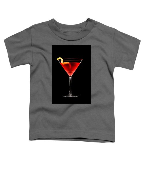 Cosmopolitan Cocktail In Front Of A Black Background  Toddler T-Shirt
