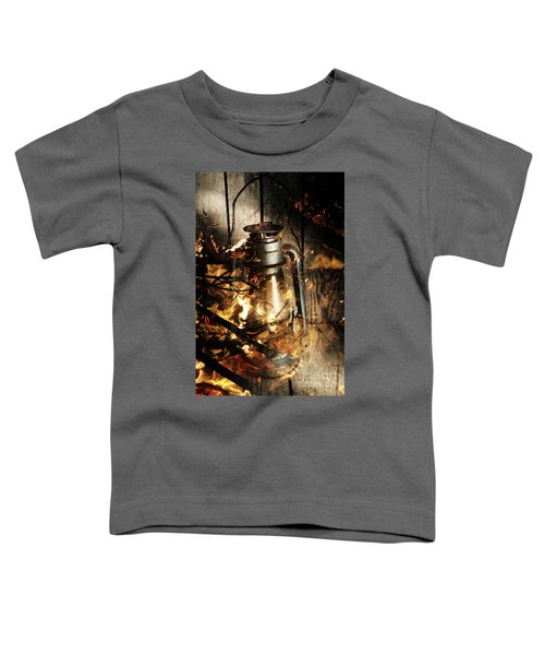 Cosy Open Fire. Cottage Artwork Toddler T-Shirt