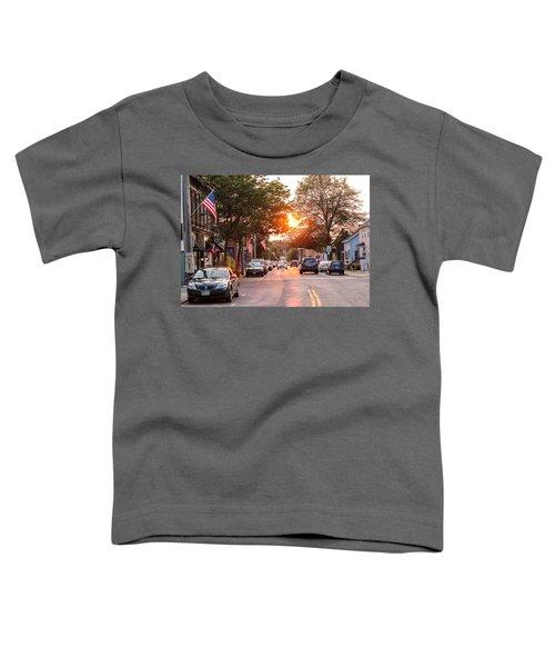 Cottage Street Summer Sunset Toddler T-Shirt