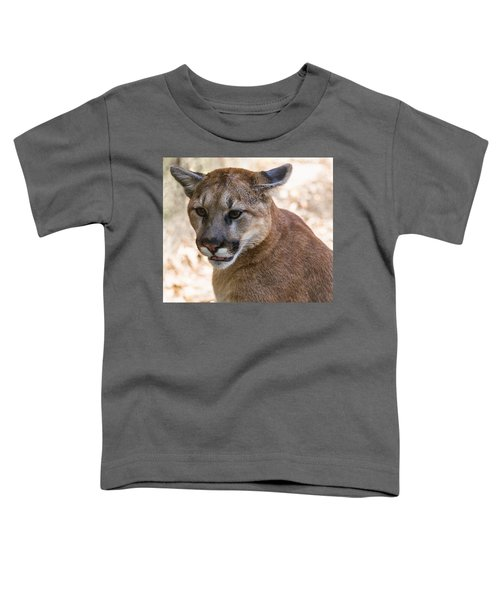 Cougar Portrait Toddler T-Shirt