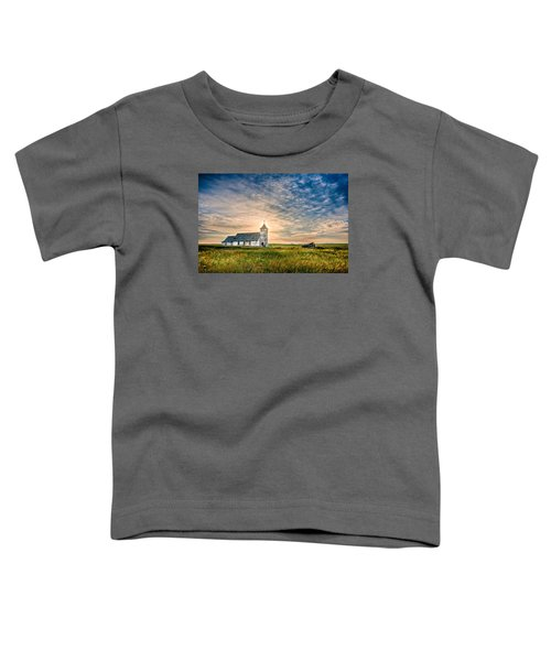 Country Church Sunrise Toddler T-Shirt