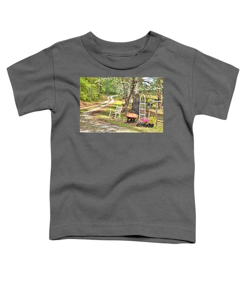 Country Driveway In Springtime Toddler T-Shirt