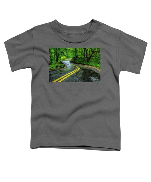 Country Road In Spring Rain Toddler T-Shirt