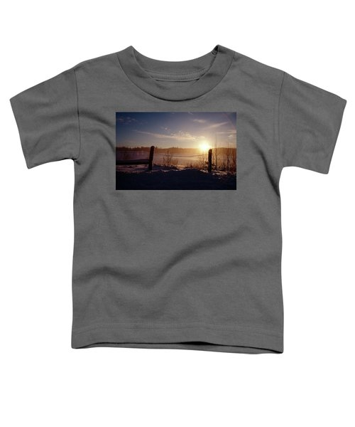 Country Winter Sunset Toddler T-Shirt