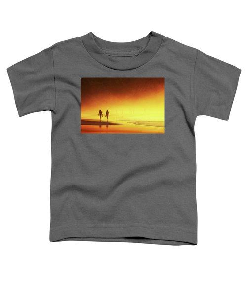 Couple Of Women Walking On Beach Toddler T-Shirt