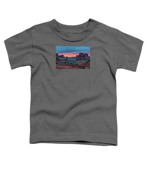 Courthouse Towers Arches National Park Toddler T-Shirt