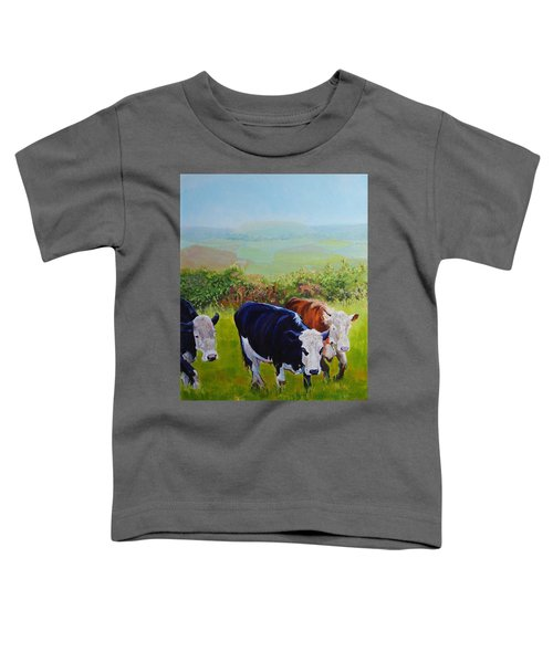 Cows And English Landscape Toddler T-Shirt