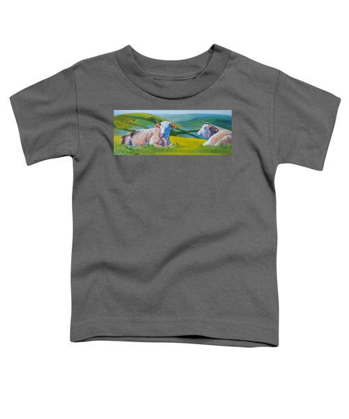 Cows Lying Down In Devon Hills Toddler T-Shirt