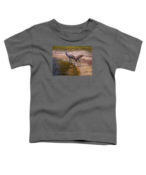 Cranes In The Lake Toddler T-Shirt