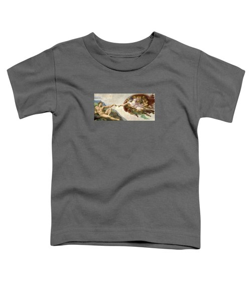 Creation Of Adam - Painted By Michelangelo Toddler T-Shirt