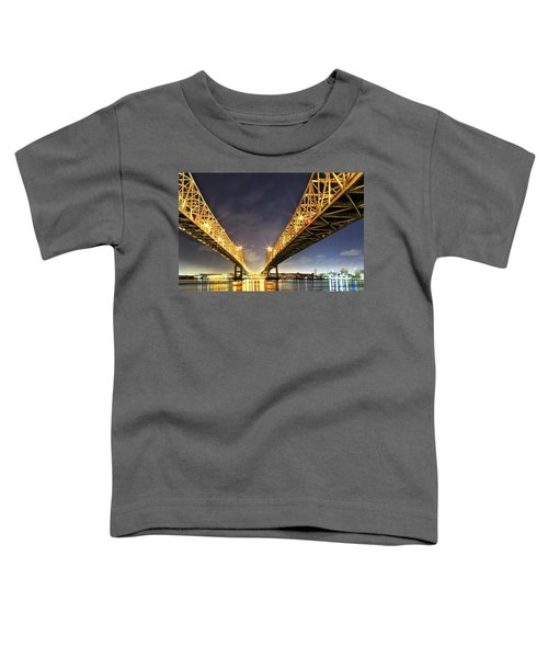 Crescent City Bridge In New Orleans Toddler T-Shirt