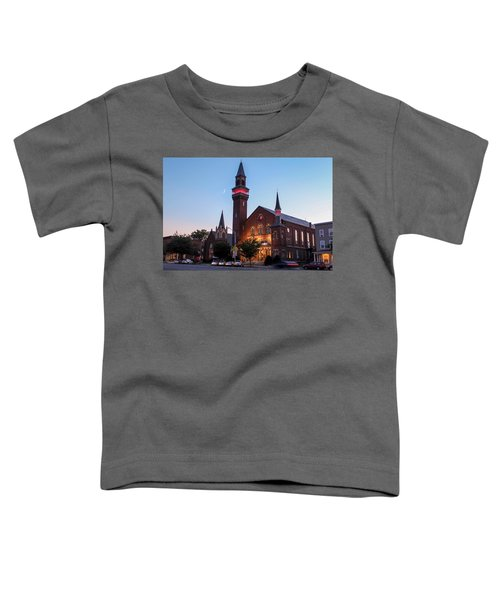 Crescent Moon Over Old Town Hall Toddler T-Shirt