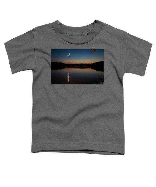 Crescent Moon Set At Lake Chesdin Toddler T-Shirt